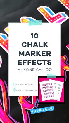 While traditional chalk lettering is still popular, chalk markers are great for experimenting (no dust)! Today, I'm sharing 10 chalk marker effects anyone can do! Chalkboard Markers, Chalkboard Lettering, Script Lettering, Block Lettering, Chalkboard Writing, Diy Chalkboard, Brush Lettering, Liquid Chalk Markers, Copic Markers