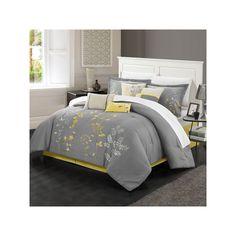Chic Home Bliss Garden Oversized Bed Set, Yellow, King Yellow Comforter Set, Comforter Sets, Queen, Flat Sheets, Mattress, Comforters, Master Bedroom, Pillow Cases, Throw Pillows