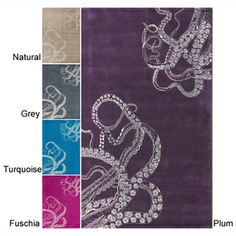 @Overstock.com - nuLOOM Handmade Octopus Tail Faux Silk / Wool Rug.  My note:  I really like this...now, I wonder if I can get Kevin to agree to it...