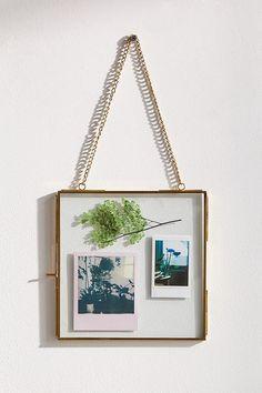 Slide View: 1: Hanging Glass Display Frame - 8x8