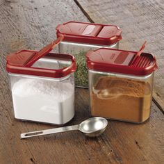 Shop Progressive Mini Keeper, DKS-400 at CHEFS - stackable containers keep bulk spices and herbs fresh, easy to measure or dispense.
