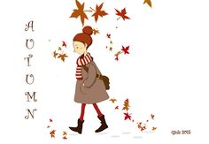 #autunno foglie illustrazione autumn