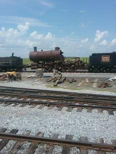 Stored locomotives awaiting restoration. Strasburg Railroad, Railroad Photography, Train Stations, Rolling Stock, Locomotive, Railroad Tracks, Abandoned, Trains, Restoration