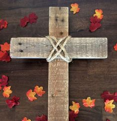 Handcrafted Pallet Cross Pallet Home Decor Wall by westerlundwood #rustichomedecorating