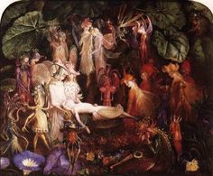 The Fairy's Funeral by John Anster Fitzgerald :: artmagick.com