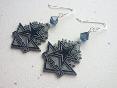 Dallas Cowboys Logo NFL Football Dangle by OldeTowneJewelry, $22.00