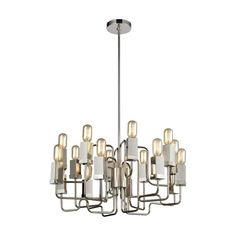 ELK-HOME-1141-065 Linear Chandelier, Ceiling Chandelier, Chandelier Shades, Ceiling Lights, Chandeliers, 60 Watt Light Bulb, Light Bulb Bases, Glass Diffuser, Glass Material