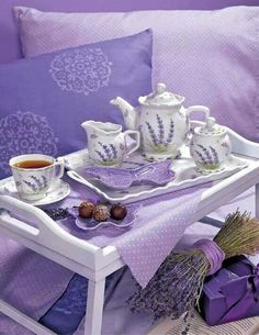 Tea Time with lavender