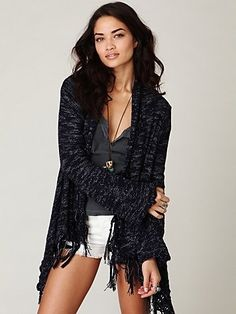 Fantasy Fringe Cardigan at Free People Clothing Boutique - StyleSays