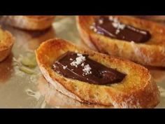 Learn how to make a Chocolate Sea Salt Crostini! Visit http://foodwishes.blogspot.com/ for the ingredients and over 500 other video recipes. Enjoy this great Chocolate Sea Salt Crostini! A great holiday entertaining idea!