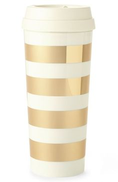 Free shipping and returns on kate spade new york gold stripe thermal mug at Nordstrom.com. Shimmering, signature golden stripes wrap a stylish travel mug fitted with an insulated slide-top lid—and sized to fit snugly in car cupholders and hands alike.