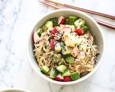 Take-Out Fake-Out: Sesame Soba Zoodles with Pickled Veggies - The Chalkboard