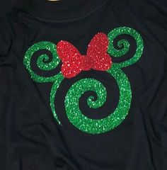 Sale - Christmas Minnie DECAL ONLY - Red or Green Glitter, disney tshirts, disney tank tops, Disney SVG, Disney Iron on Disney Christmas Shirts, Disney Shirts For Family, Christmas Items, Disney Family, Christmas Crafts, Glitter Force, Glitter Vinyl, Glitter Walls, Glitter Art