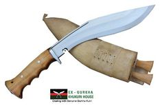 EGKH Genuine Gurkha Hand Forged Kukri 10 Blade Authentic British Gurkha Iraqi Operation Gripper Blocker Handle Khukuri By Ex Gurkha Khukuri House in Nepal * Continue to the product at the image link. (This is an affiliate link) Cool Knives, Knives And Tools, Knives And Swords, Bushcraft, Survival Knife, Survival Mode, Custom Knives, Knife Making, Nepal