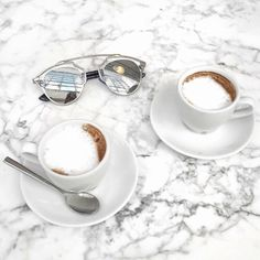 Image de coffee, marble, and drink
