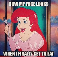 Yes! Although food is not nearly as complicated as sleep. I need more sleep! Workout Memes, Gym Memes, Post Workout, Workouts, Funny Workout, Funny Disney Memes, Funny Memes, Hilarious, Funny Quotes