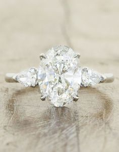 -Inspired Oval Engagement Rings - Ken & Dana Design