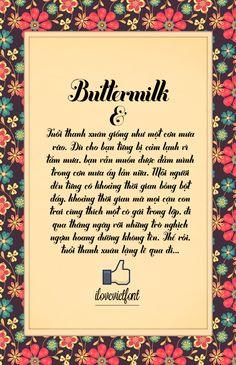 Buttermilk VNF Unicode (facebook.com/ilovevietfont)