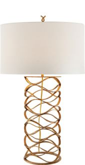 """BRACELET TABLE LAMP - Height: 30 1/4""""  Width: 18""""  Base: 8"""" Round Shade: 18"""" x 18"""" x 9"""""""