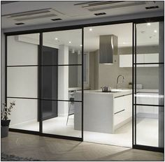 183 home decor ideas page 38 Kitchen Glass Doors, Kitchen Sliding Doors, Internal Glass Sliding Doors, Home Decor Kitchen, Kitchen Interior, Home Interior Design, Küchen Design, Door Design, Cuisines Design
