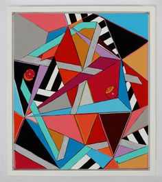Triangles Painting Abstract Art Original Oil by MicheleACaron, $550.00