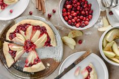 apple and cranberry gallette