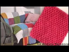 Cómo tejer cuadrados en dos agujas (mitered squares)-Soy Woolly - YouTube