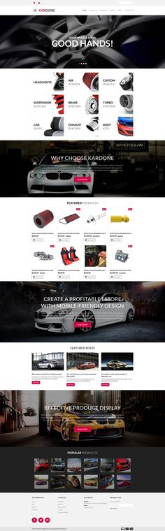 Auto Parts Responsive MotoCMS Ecommerce Template #63719