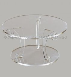 Elegant Scroll Design Wedding Cake Stand - Crystal Clear Acrylic - 100mm High: Amazon.co.uk: Kitchen & Home