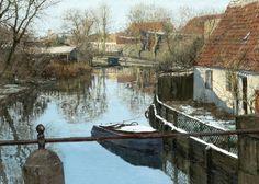 Ole Ring - Danish Painter (1902-1972) - The Still River - Bækken