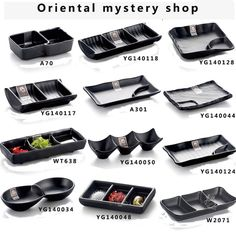 Imitation porcelain Japanese sushi bar plates grind arenaceous black plate creative hotpot sauce melamine tableware snack plate