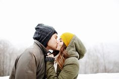 snowy kisses