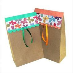 Resultado de imagen para diy sacolas de papel personalizadas