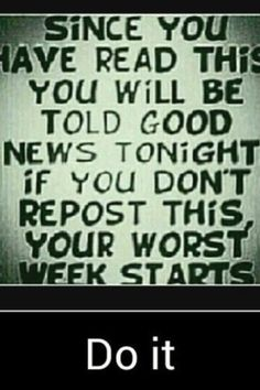 Good news or a terrible week?? Your choice