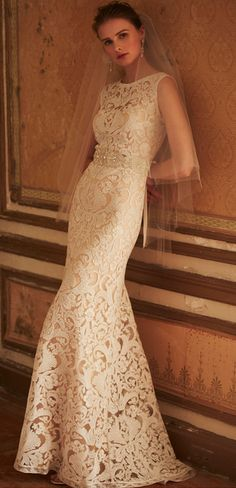 Ines Gown/BHLDN.. Look at all lace, absolutely gorgeous!