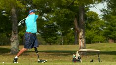 Para Long Drive founder and RUSH™ Foot user, Dean Jarvis.
