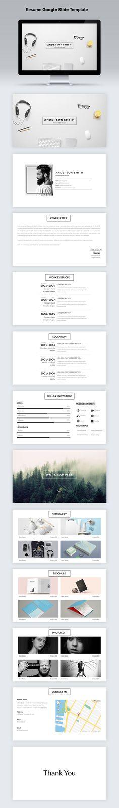 MD Clean Multipurpose Google Slides Template - google templates resume