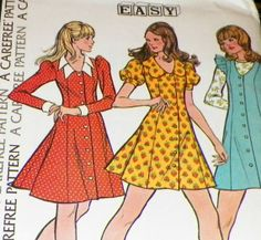 Sewing Pattern 70s  Peasant Mod Vintage by hookandneedlepattern, $8.00