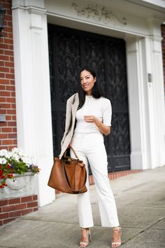 Her top is my favorite, i like that her outfit is simple & classy. nice 35 classy spring business outfit ideas for women Oxford Outfit, Stylish Work Outfits, Fall Outfits For Work, Spring Outfits, Fashionable Outfits, Office Outfits, Summer Business Outfits, Business Outfits Women, Office Looks