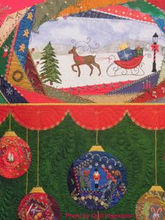 Christmas Crazy by Linda Steele (Australia).  2013 Houston IQF, close up photo by Quilt Inspiration