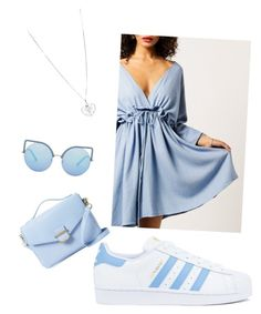 """Blue"" by arina-alexandrescu on Polyvore featuring Moon River, adidas, Cynthia Rowley and Matthew Williamson"
