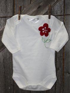 Crochet Flower Baby Onesie
