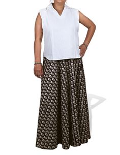 Long Skirt Ankle Length Black Block Print Cotton Summer Clothes Indian Size M $25.03 http://cutratefashion.com/long-skirt-ankle-length-bl