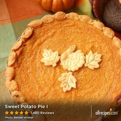 "Sweet Potato Pie I | ""This was one of the best sweet potato pies I've ever made! So rich and creamy and savory all at the same time. I plan to delight my family with this treat on Thanksgiving."""