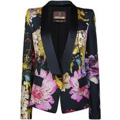 ROBERTO CAVALLI Floral Print Jacket ($1,770) ❤ liked on Polyvore