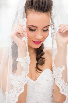 Cintia as a Bride Farmer, White Dress, Smile, Wedding Dresses, Fashion, Bride Dresses, Moda, Bridal Gowns, Fashion Styles