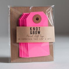 neon gift tags
