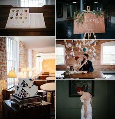 Decor and detail from a modern industrial and geometric wedding. Photography by http://www.caroweiss.com/