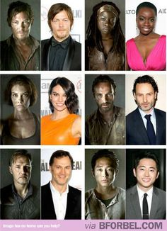 """The Walking Dead"" Cast- Before and After a Shower…"