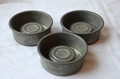 VINTAGE FRENCH TIN CHOCOLATE BAKING BUNDT CAKES TART PASTRY MOLDS MOULDS SET